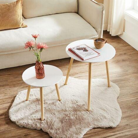 Lot De 2 Tables Basses Table Ronde Pour Cafétéria Table De