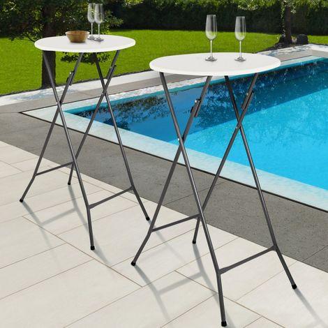 Lot de 2 tables hautes 105 cm pliantes