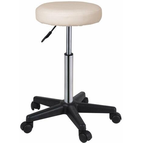 Lot de 2 tabourets chaise réglable en hauteur confortable rembourré hauteur réglable diamètre assise 35 cm