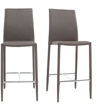 Lot de 2 tabourets / chaises de bar design TALOS