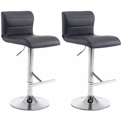 Lot de 2 tabourets de bar Denver V2 en similicuir