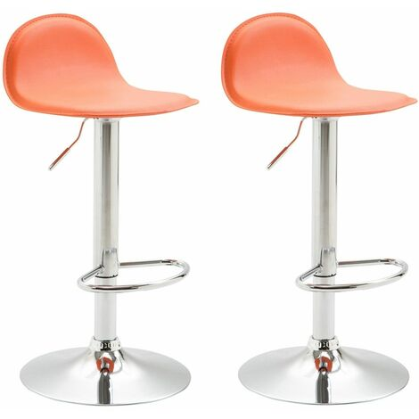Lot de 2 tabourets de bar design Lana V2 similicuir