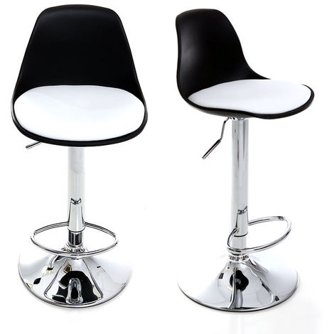 Lot de 2 tabourets de bar design STEEVY