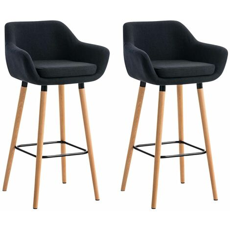 Lot de 2 tabourets de bar Grant tissu