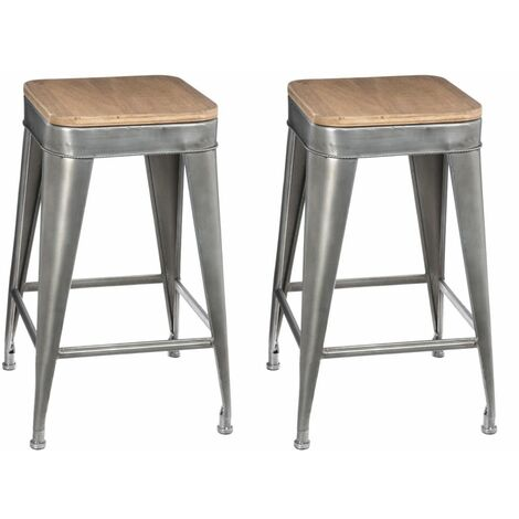 Lot de 2 tabourets de bar Joris Hispter Home - Atmosphera