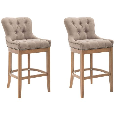 Lot de 2 Tabourets de Bar Lakewood tissu