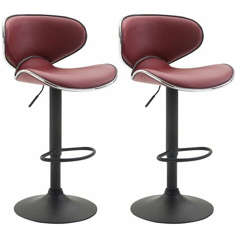 Lot de 2 tabourets de bar Las Vegas V2 similicuir