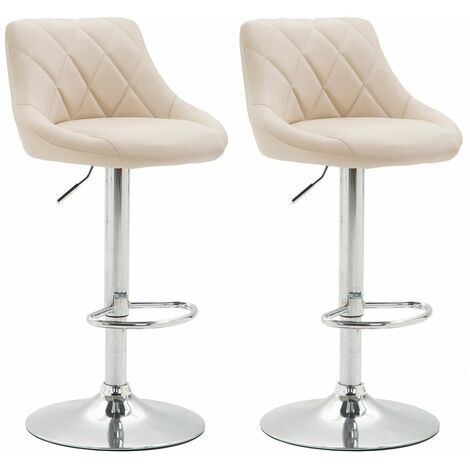 Lot de 2 tabourets de bar Lazio similicuir