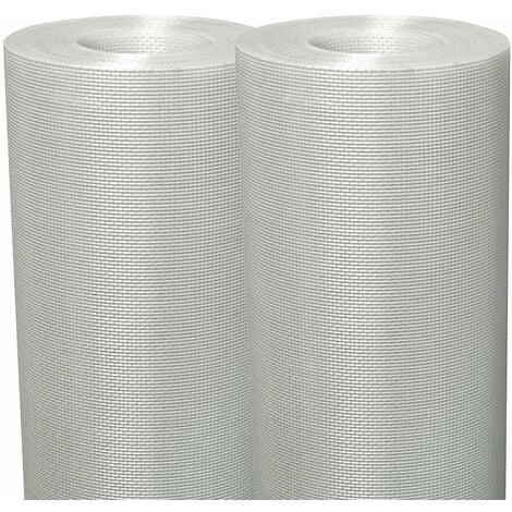 Lot de 2 tissus en fibre de verre pour murs et plafond Semin Fiss Renov - évite les fissures et renforce les supports - rouleau de 50 x 1 m