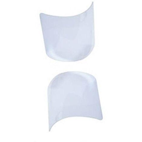 Lot de 2 Visières pour Masque Cagoule de Protection de Sablage