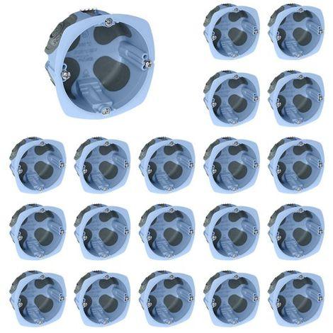 Lot De 20 Boîtes D'encastrement Air'metic étanches à L'air 67x40mm - à Griffes - 1 Poste - Eur'ohm 52061