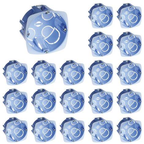 Lot De 20 Boîtes D'encastrement Pour Cloison Sèche 67x40mm Xl - à Griffes - 1 Poste - Eur'ohm 52041