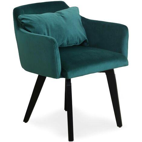 Lot de 20 chaises / fauteuils Gybson Velours Noir - Noir