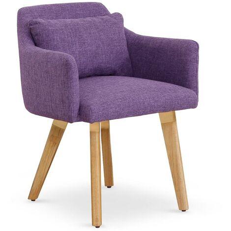 Lot de 20 chaises / fauteuils Gybson Velours Rose - Rose