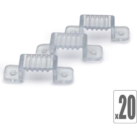 """main image of """"Lot de 20 Clips de fixation pour ruban led 220V"""""""