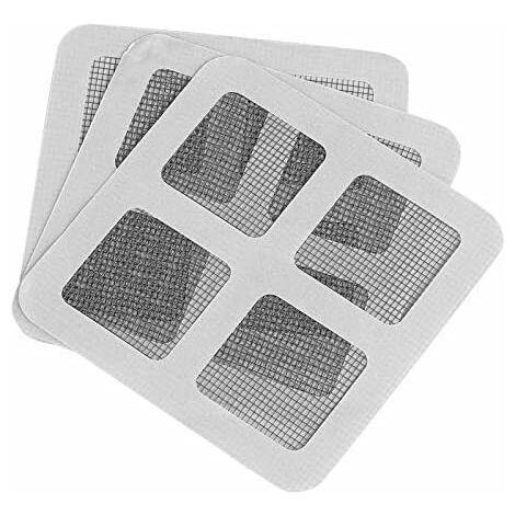 Lot de 20 Pcs Patch Ruban de Réparation Adhésif 10 x 10 cm pour Filet Moustiquaire Fenêtre Porte Anti-Insectes Anti-moustiques