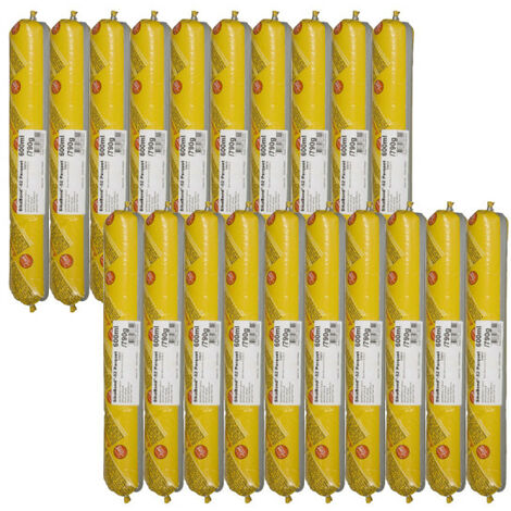 Lot de 20 poches colle élastique SIKA SikaBond 52 Parquet - 600ml - Marron
