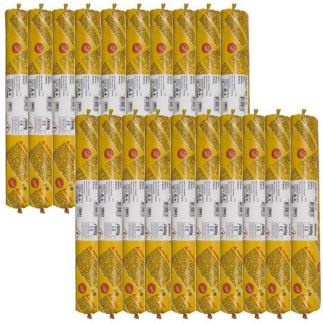 Lot de 20 poches recharge mastic colle SIKA Sikaflex PRO 11 FC - Noir - 300ml - Noir