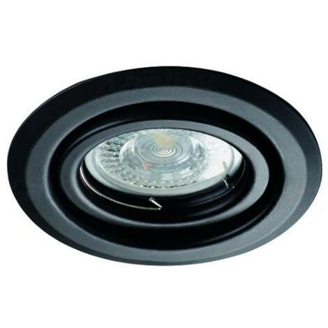 Lot de 20 Spots encastrables orientables rond Noir pour spot LED