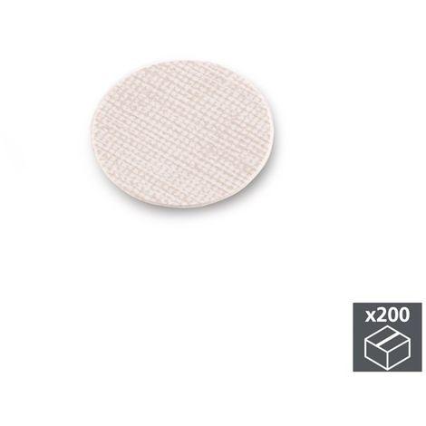 Lot de 200 pastilles adhésives cache vis D. 13 mm
