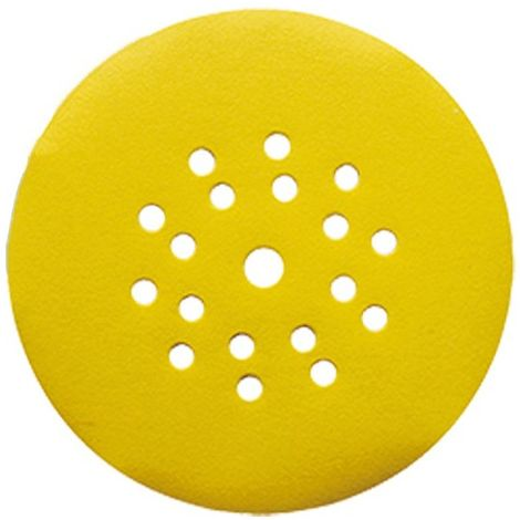 Lot de 25 disques auto-agrippant pour ponceuse mur et plafond D. 225 mm Gr. 100 6+1 trous - 4423710 - Leman