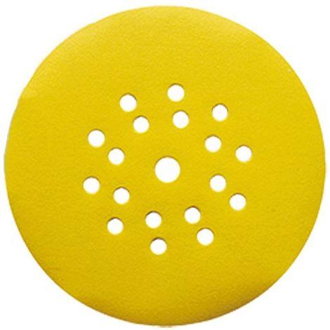 Lot de 25 disques auto-agrippant pour ponceuse mur et plafond D. 225 mm Gr. 120 6+1 trous - 4423712 - Leman