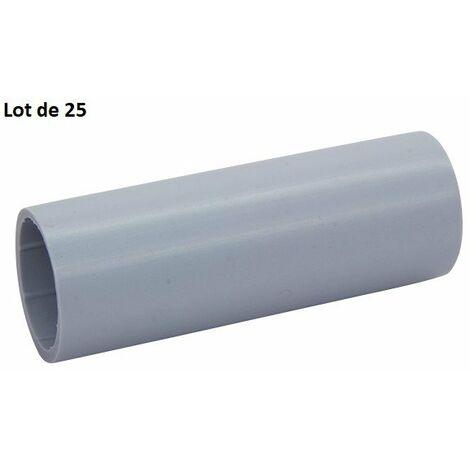 Lot de 25 manchons de repérages pour pieuvriste Clip'Ohm pour conduit ICTA - Ø32 mm - Gris