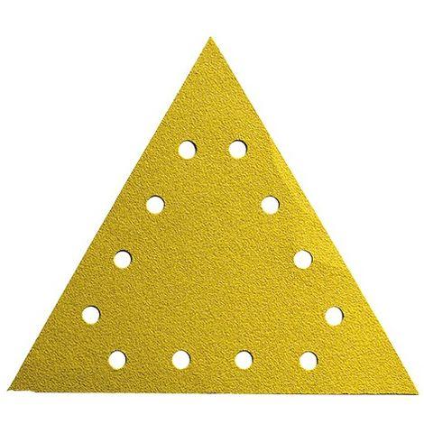 Lot de 25 triangles auto-agrippant pour ponceuse mur et plafond D. 290 x 290 mm Gr. 80 12 trous - 290.290.12.080 - Leman