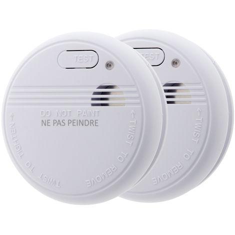 Lot de 2x détecteurs de fumée NF - Garantie 5 ans - Autonomie 5 ans - Livrés avec pile et accessoires de pose - Otio