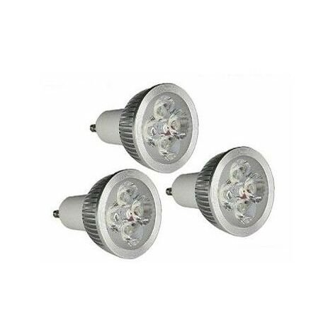 lot de 3 Ampoules à LED GU10 4w 4X1w haute intensité GreenSensation
