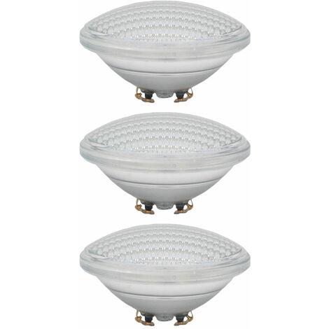 Lot de 3 ampoules de piscine à LED SMD Bassin Projecteurs PAR56 Lampes Bleu