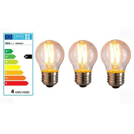 Lot de 3 ampoules vintage 4w à LED G45 E27 style Edison bulb