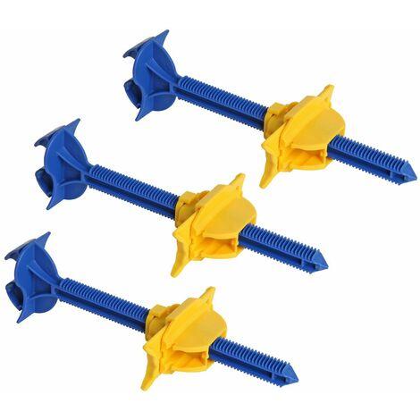 Lot de 3 appuis intermédiaire sécable Semin - fixation réglable pour le doublage des murs sur ossatures - 180 mm - boite de 50