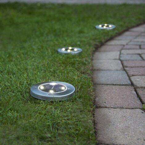 Lot de 3 Balises LED solaire à planter