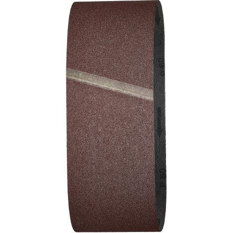 Lot de 3 Bandes Abrasives, Grain 80, Dimensions 100 x 610, pour Ponceuse à Bande - wolfcraft 1862000