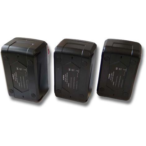 Lot de 3 Batteries Li-Ion vhbw 4000mAh (28V) pour visseuse Würth BS 28-A Combi. Remplace les modèles de batterie suivants: 4932352732.