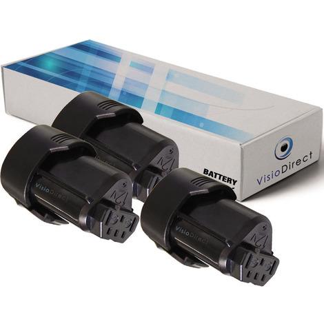 Lot de 3 batteries pour AEG BS12C visseuse sans fil 2000mAh 12V