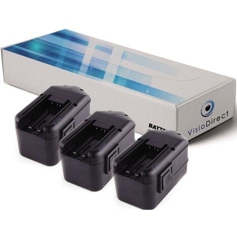 Lot de 3 batteries pour AEG BSB 18 STX marteau perforateur 3300mAh 18V