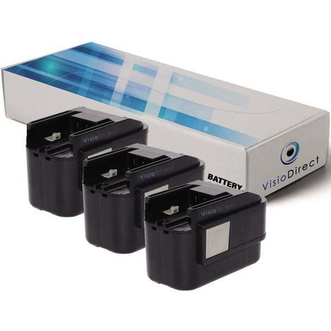 Lot de 3 batteries pour AEG P9.6 perceuse visseuse AEG Milwaukee 2000mAh 9.6V