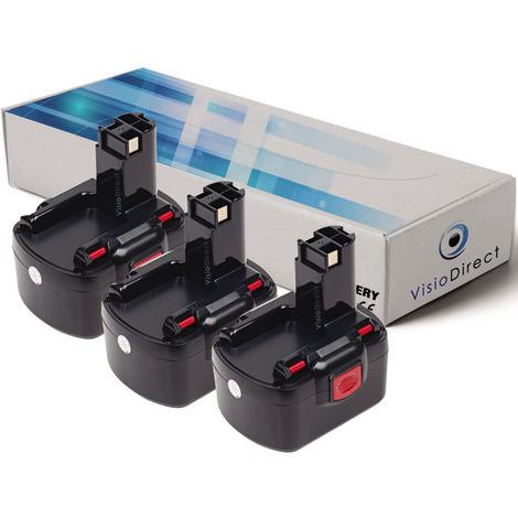 Lot de 3 batteries pour Bosch 22612 clé à chocs 3000mAh 12V