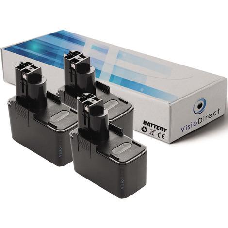 Lot de 3 batteries pour Bosch AHS A taille haies 3000mAh 12V
