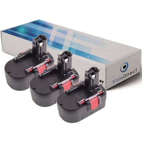 Lot de 3 batteries pour Bosch GWS 14.4V /3B meuleuse angulaire 3000mAh 14.4V