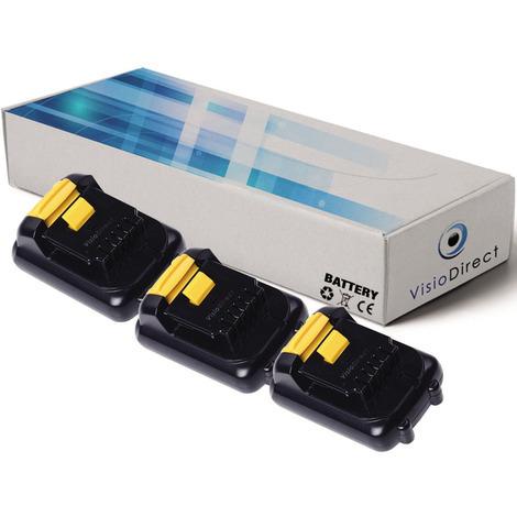 Lot de 3 batteries pour DEWALT DCL040 lampe torche 1500mAh 10.8V