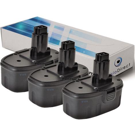 Lot de 3 batteries pour DEWALT DW918 lampe torche 3000mAh 14.4V
