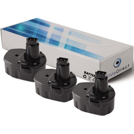 Lot de 3 batteries pour DEWALT DW930 scie circulaire 3300mAh 12V