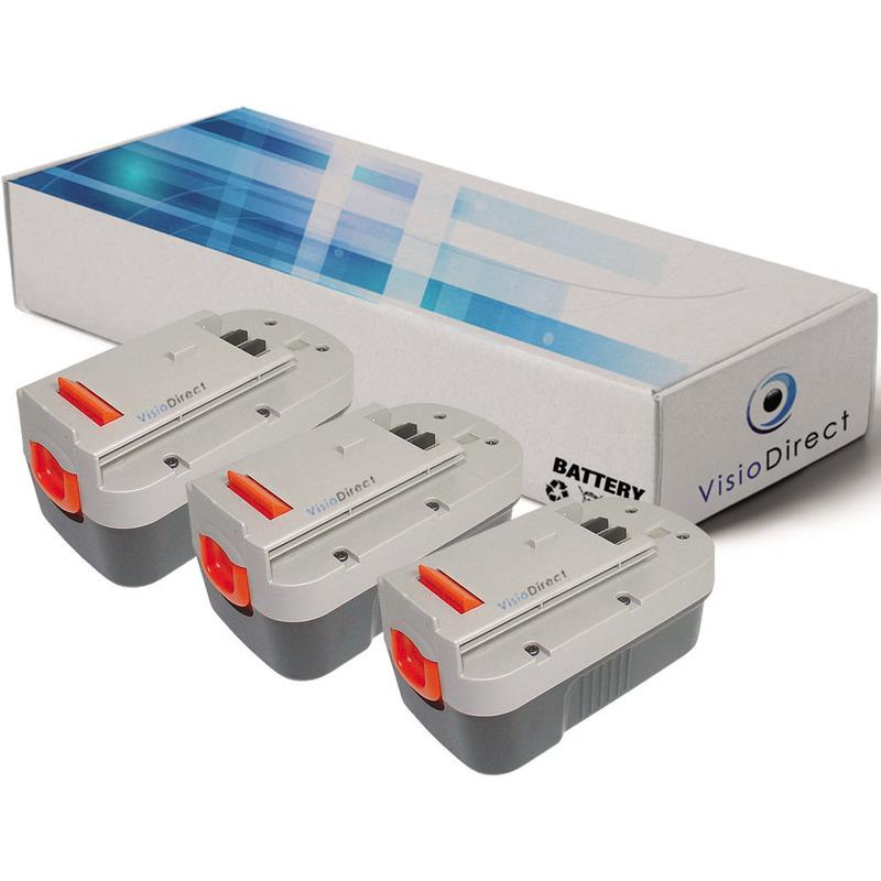 Visiodirect - Lot de 3 batteries pour FIRESTORM GPC1800 GPC1820L/LB GTC1843L/LB 3000mAh 18V