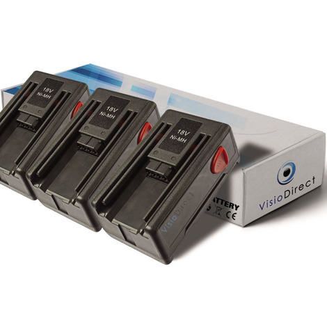 Lot de 3 batteries pour Gardena SmallCut 300 taille-haies 1500mAh 18V