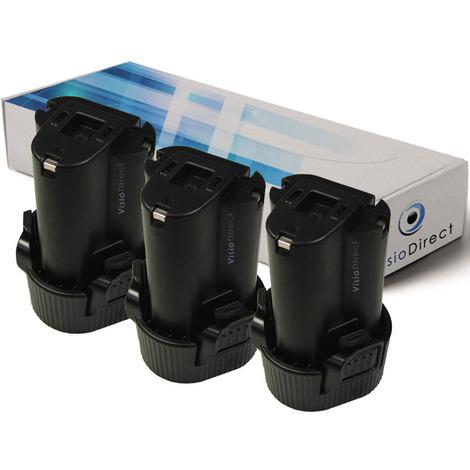 Lot de 3 batteries pour Makita LM01 lampe torche 1500mAh 10.8V
