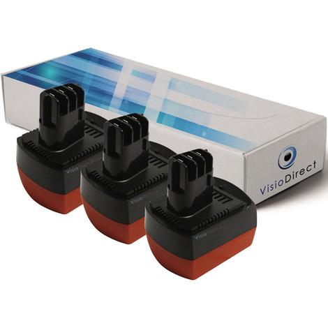 Lot de 3 Batteries pour Metabo BSZ12 12V 2000mAh