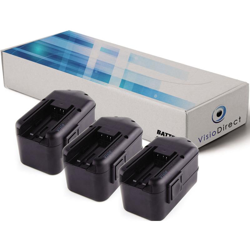 Visiodirect - Lot de 3 batteries pour Milwaukee 6320-20 6320-21 6320-22 6320-24 3300mAh 18V